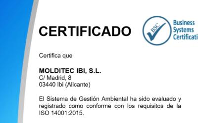 Certificación ISO 14001:2015
